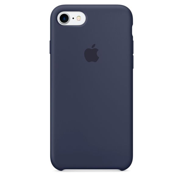 Накладка Apple iPhone 7 Silicone Case, темно-синий