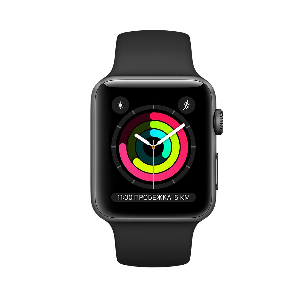Apple Watch Series 3 38mm, черный. Фото N3