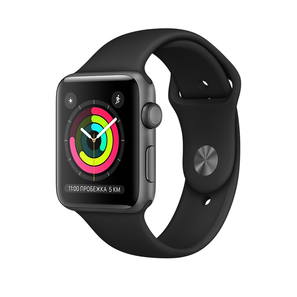 Apple Watch Series 3 38mm, черный