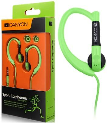 Наушники Canyon CNS-SEP1 Sport Earphones, желтый