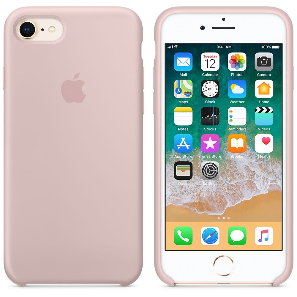 Накладка Apple iPhone 7 Silicone Case, розовый. Фото N4