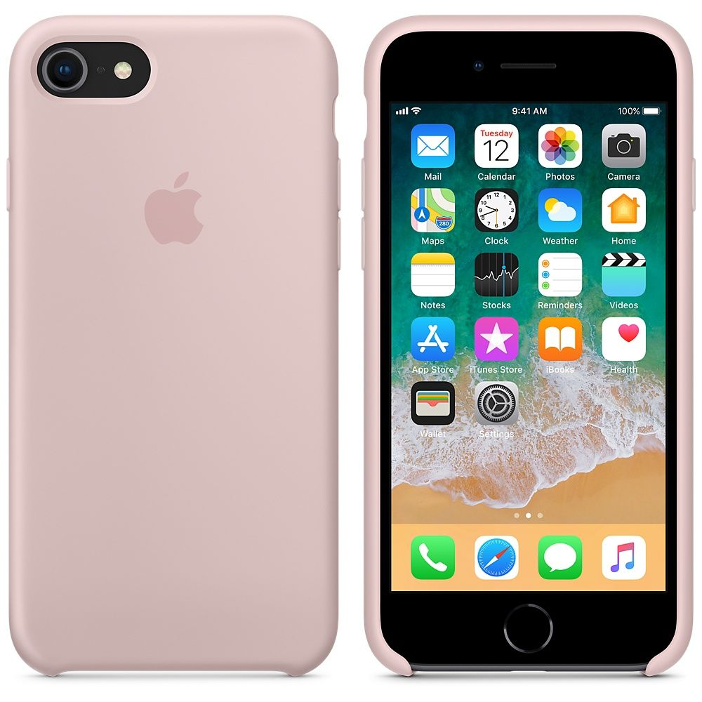 Накладка Apple iPhone 7 Silicone Case, розовый. Фото N3