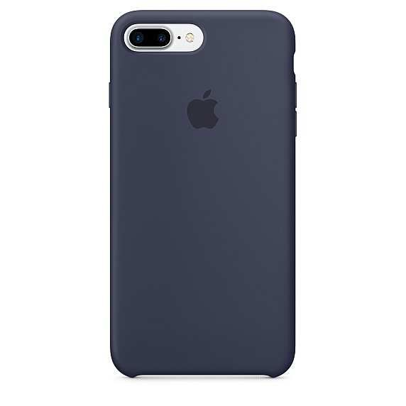 Накладка Apple iPhone 7 Plus Silicone Case, темно-синий