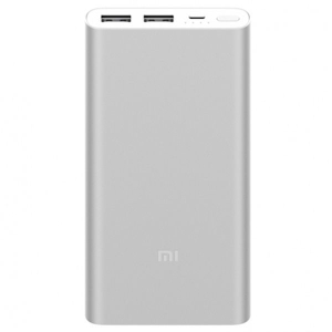 АКБ Xiaomi Mi Power Bank 2S 10000 mAh, серебристый